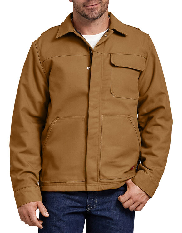 Flame-Resistant Insulated Duck Jacket - BROWN DUCK (BD)