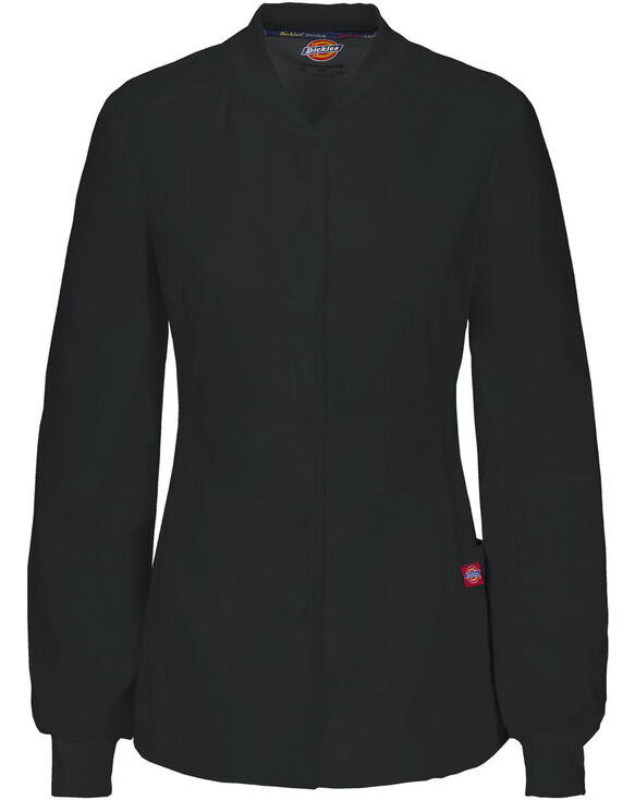 Women's EDS Signature Snap Front Warm-up Scrub Jacket with Certainty® - BLACK (BLK)
