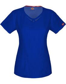 Women's EDS Round Neck Scrub Top - GALAXY BLUE-LICENSEE (GBL)