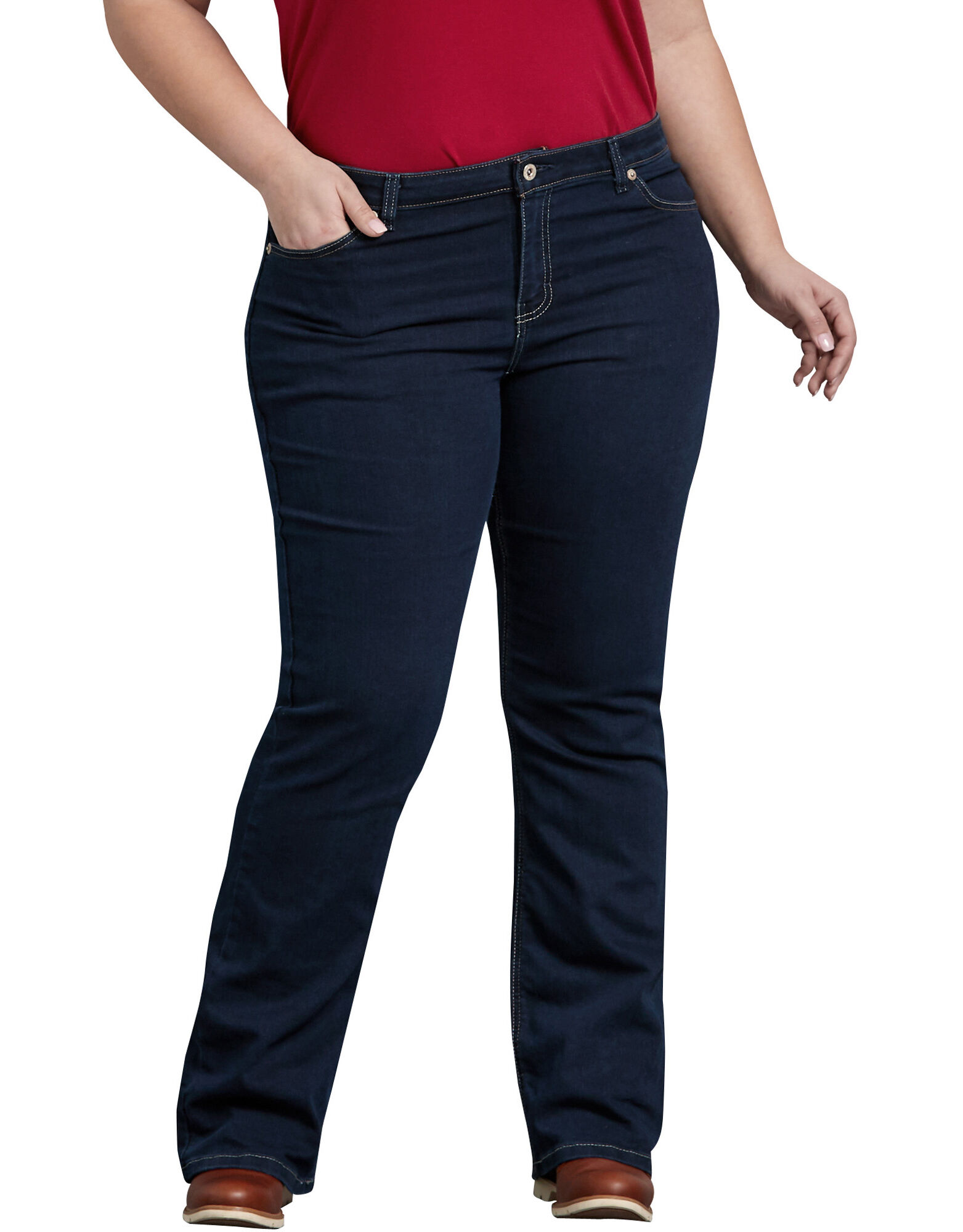 women 39 s relaxed denim jean plus dickies. Black Bedroom Furniture Sets. Home Design Ideas