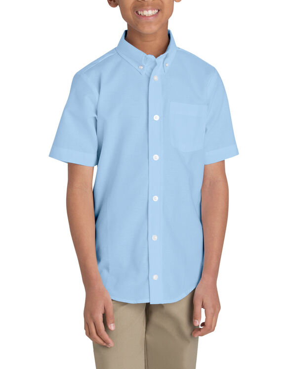 Boys' Short Sleeve Oxford Shirt, 4-20 - LIGHT BLUE (LB)
