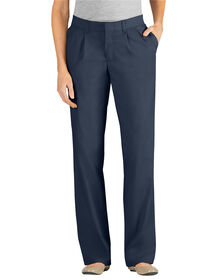 Women's Relaxed Fit Straight Leg Pleated Front Pant - DARK NAVY (DN)