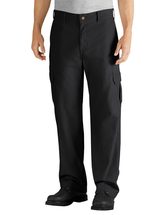 Relaxed Fit Straight Leg Cargo Duck Pant - RINSED BLACK (RBK)