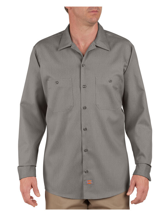 Industrial Patterned Long Sleeve Shirt - SILVER (SV)