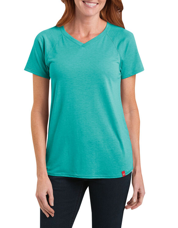 Women's Short Sleeve Knit Tee - AQUA JADE HEATHER (AJH)