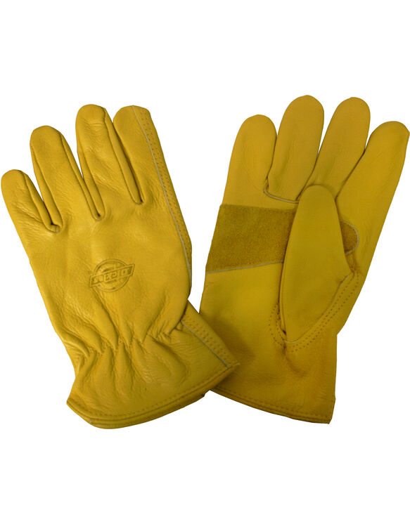 Saddle Grain Cowhide Driver Glove, Medium - BROWN (BR)