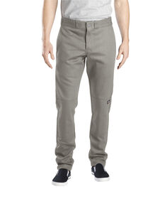 Flex Skinny Straight Fit Double Knee Work Pant - SILVER (SV)