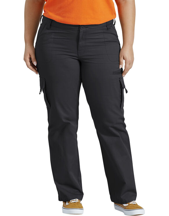 Women's Relaxed Cargo Pant (Plus) - RINSED BLACK (RBK)