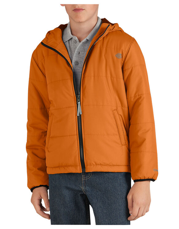 Kids' Puffer Jacket, 8-20 - MANDARIN (AN)