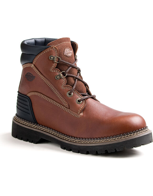Men's Heritage Steel Toe Work Boots - SADDLE BROWN-LICENSEE (FSB)