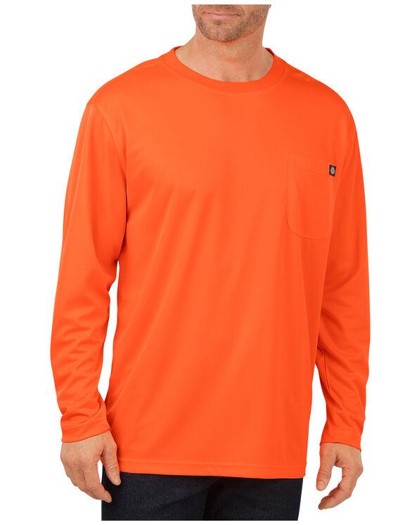 Enhanced Visibility Long Sleeve Pocket T-Shirt - ANSI ORANGE (AO)