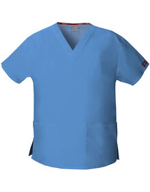 Women's EDS V-Neck Scrub Top - CEIL BLUE-LICENSEE (CBL)