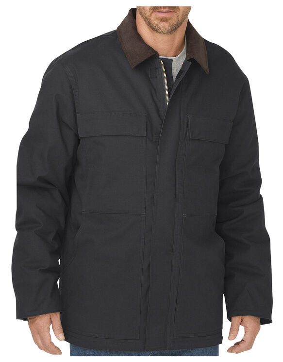 Flex Sanded Stretch Duck Coat - BLACK (BK)