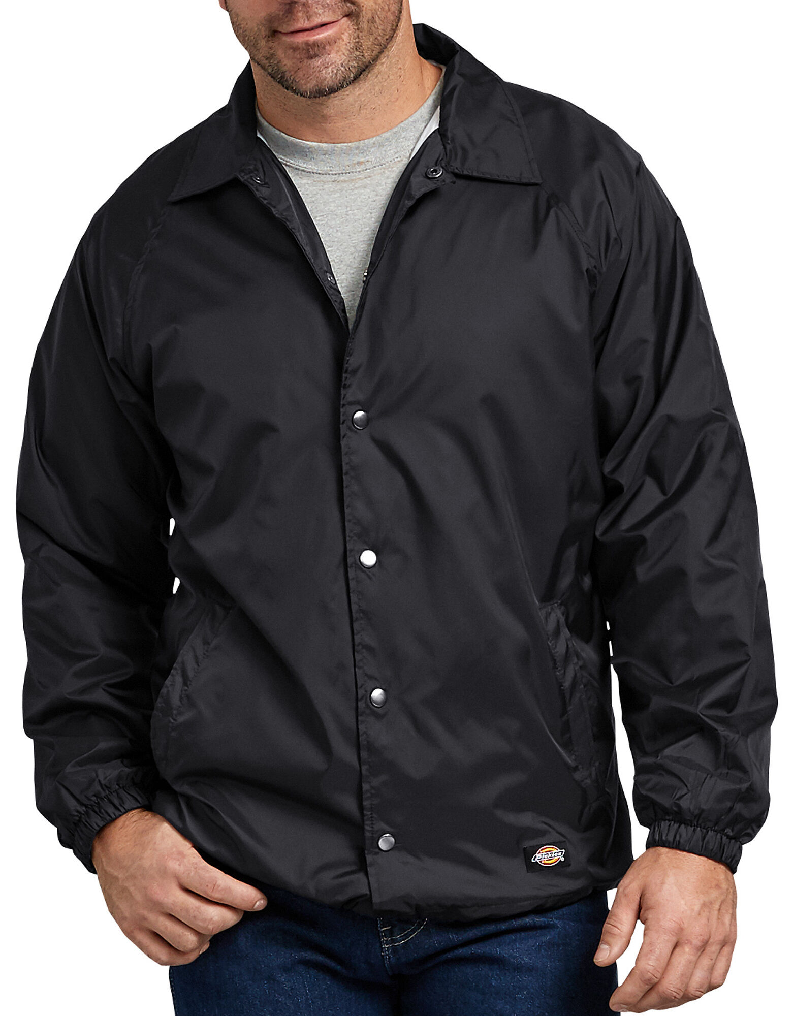 Snap Front Nylon Jacket for Men | Dickies