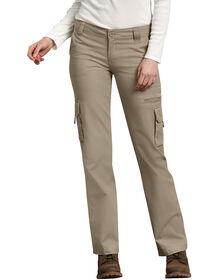 Pantalon cargo de coupe décontractée pour femmes - Sable du désert rincé (RDS)