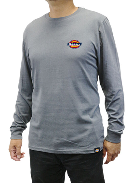 Men's Graphic Long Sleeve Dickies Shirt - CHARCOAL (CH)