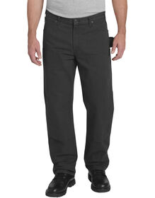 Relaxed Fit Straight Leg Double Front Duck Pant - RINSED BLACK (RBK)