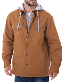 Hooded Canvas Shirt Jacket - BROWN DUCK (BD)