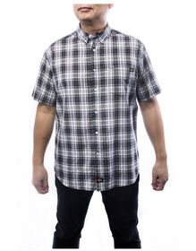 Weekend Men's Short Sleeve Plaid Shirt - CHARCOAL (CH)