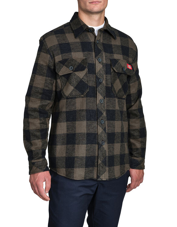 Doe Skin Shirt - HUNTER GREEN PLAID CANADA F14M (G47)
