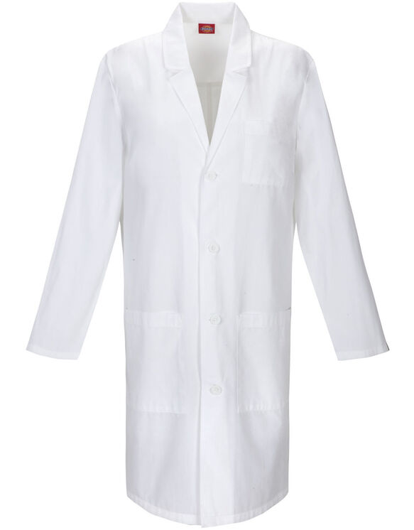 "Unisex EDS 40"" Lab Coat - DICKIES WHITE-LICENSEE (DWH)"