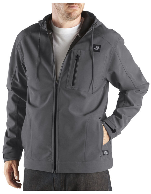 Performance Softshell Hooded Jacket - CHARCOAL (CH)
