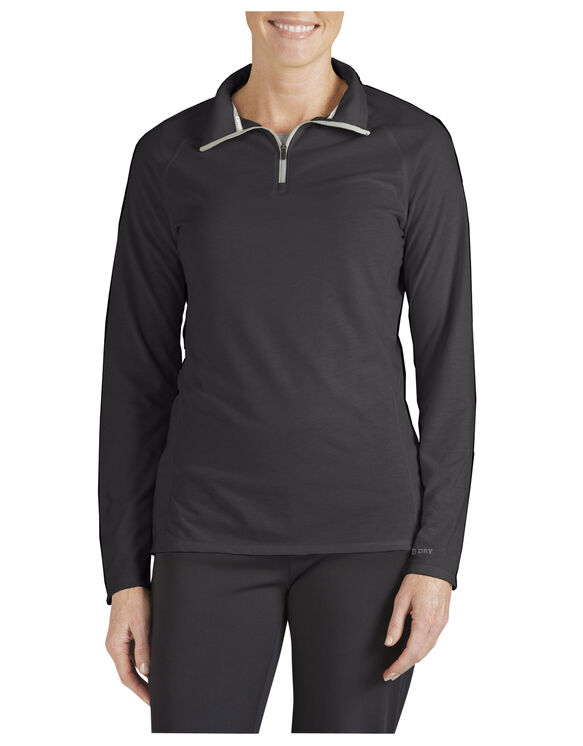 Women's Performance Quarter Zip drirelease® Pullover - BLACK (BK)