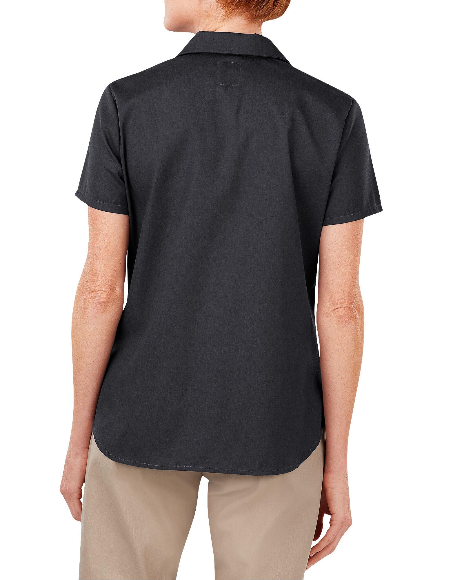 Red Kap Shirts: Men's SP24 BK Black Industrial Short-Sleeve Poplin Work Shirt