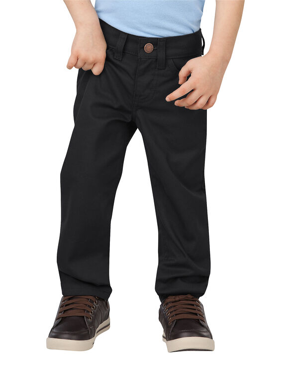 Toddler Flex Slim Fit Skinny Leg FlexWaist® 5-Pocket Pant - BLACK (BK)