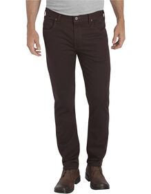 Dickies X-Series Slim Fit Tapered Leg 5-Pocket Flex Pant - STONEWASHED DARK BROWN (SDB)