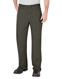Relaxed Fit Straight Leg Ripstop Carpenter Pant - RINSED MOSS GREEN (RMS)