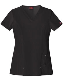 Women's Junior Fit Xtreme Stretch V-Neck Scrub Top