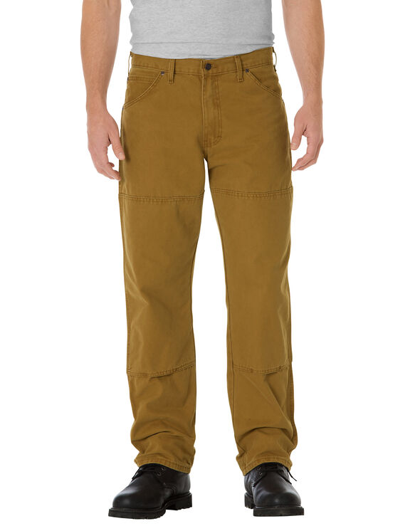 Relaxed Fit Straight Leg Double Knee 6-Pocket Duck Jean - RINSED BROWN DUCK (RBD)