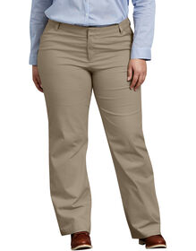 Women's Relaxed Fit Straight Leg Stretch Twill Pant (Plus)