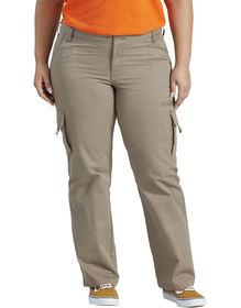 Women's Relaxed Cargo Pant (Plus) - RINSED DESERT SAND (RDS)