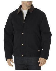 Sanded Duck Sherpa Lined Jacket - BLACK (BK)