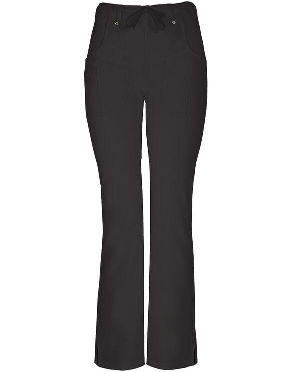 Women's Junior Fit Xtreme Stretch Slim Drawstring Scrub Pant - BLACK-LICENSEE (BLK)