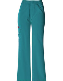 Women's Xtreme Stretch Elastic Waist Scrub Pant - DICKIES TEAL-LICENSEE (DTL)
