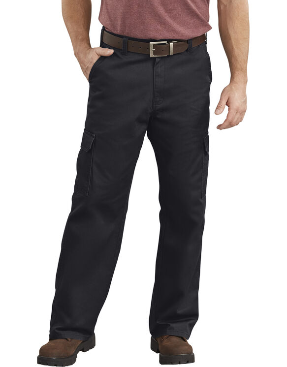 Loose Fit Straight Leg Cargo Pant - RINSED BLACK (RBK)
