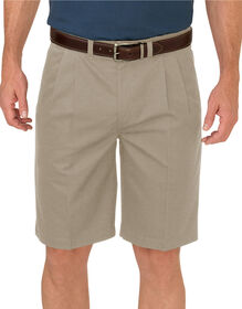 "Dickies KHAKI 10"" Relaxed Fit Pleated Front Short - RINSED DESERT SAND (RDS)"