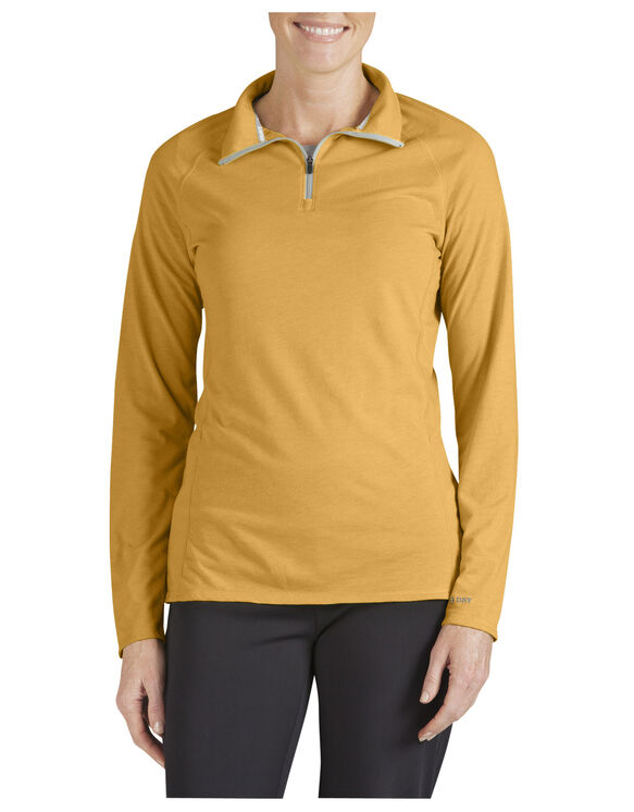 Women's Performance Quarter Zip drirelease® Pullover - MARIGOLD (AD)