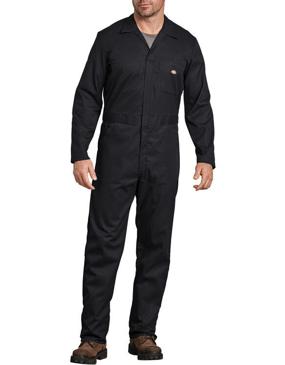Flex Long Sleeve Coverall - BLACK (BK)