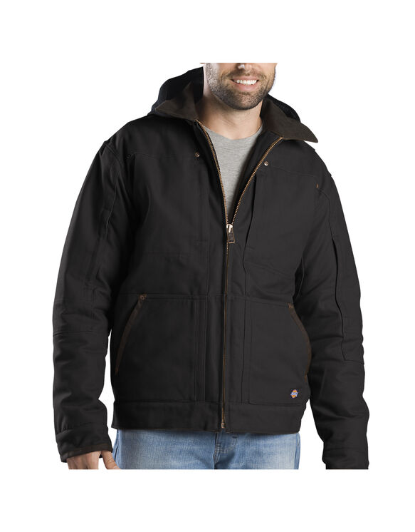 Sanded Duck Hooded Jacket - BLACK (BK)