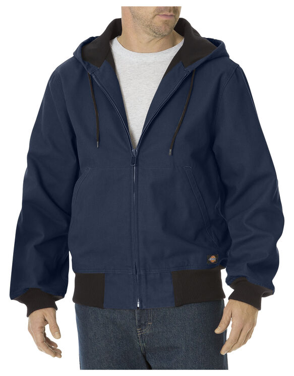 Sanded Duck Thermal Lined Hooded Jacket - DARK NAVY (DN)