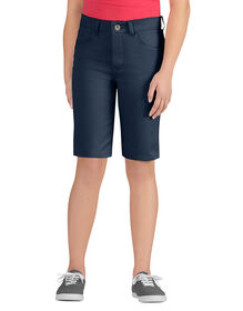 Girls' Skinny Fit 5-Pocket Stretch Twill Short, 7-20 - DARK NAVY (DN)