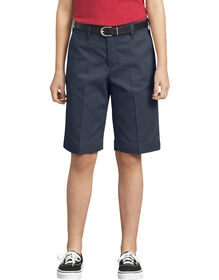 Girls' Classic Fit Bermuda Stretch Twill Short, 4-6 - DARK NAVY (DN)