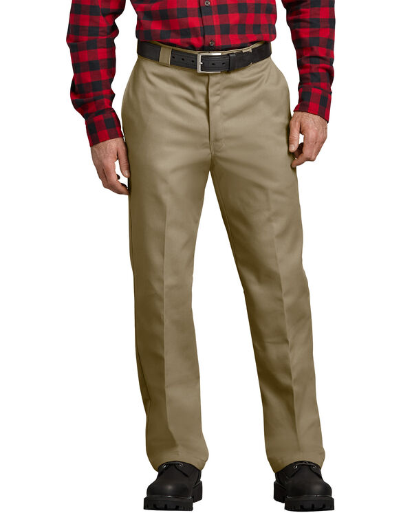 Relaxed Fit Flannel Lined Work Pants - KHAKI (KH)