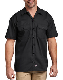 Short Sleeve Work Shirt - BLACK (BK)