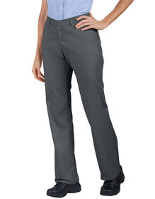 Women's Industrial Flat Front Twill Pant - CHARCOAL (CH)
