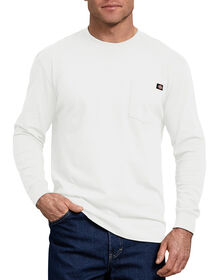 Long Sleeve Heavyweight Crew Neck Tee - WHITE (WH)